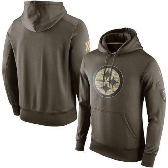 reputable site b4a77 cc2b2 Nike | Steelers Salute to Service Hoodie